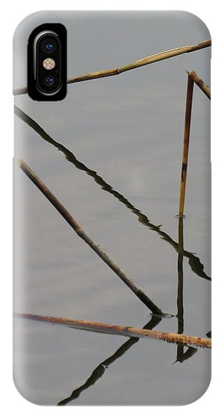 IPhone Case featuring the photograph Water Construction by Attila Meszlenyi