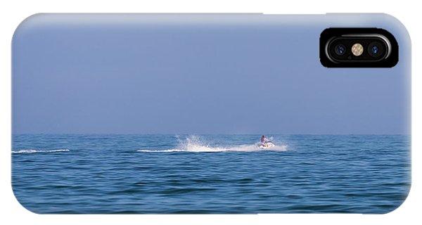 Jet Ski iPhone X Case - Water Jet-ski by Ken Welsh