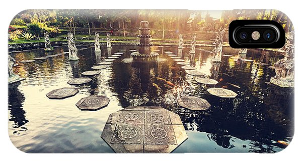 Bed iPhone Case - Water Palace, Bali, Indonesia by Galyna Andrushko