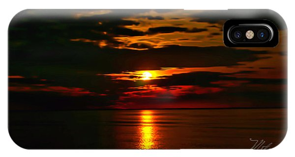 IPhone Case featuring the photograph Water Sunset Clouds by Meta Gatschenberger