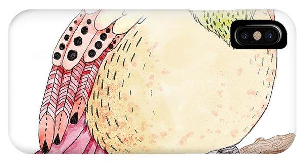 Hummingbirds iPhone Case - Watercolor Birds Illustration. Hand by Maria Sem