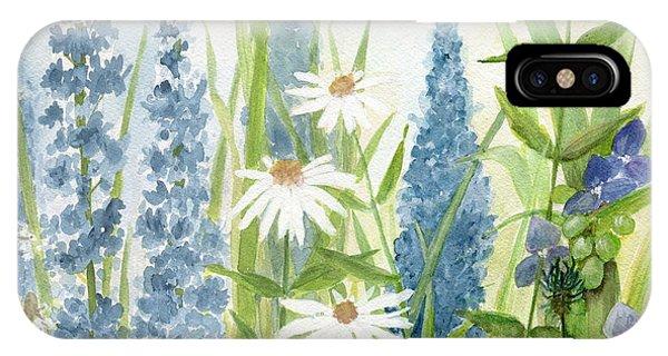 Watercolor Blue Flowers IPhone Case