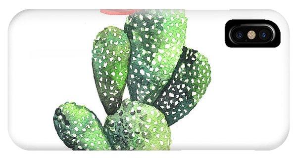 Cactus iPhone Case - Watercolor Cactus. Original Watercolor by Yudina Anna