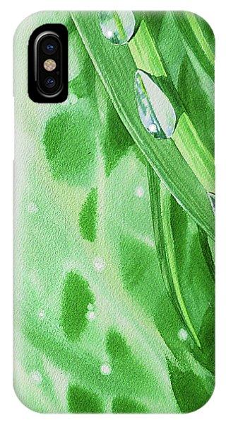 Hyper Realism iPhone Case - Watercolor Dew Drops by Irina Sztukowski