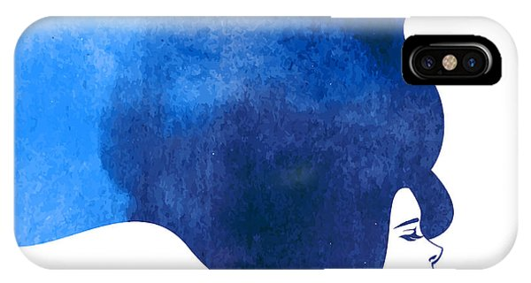 Mythology iPhone Case - Watercolor Fashion Woman With Long by Kotoffei
