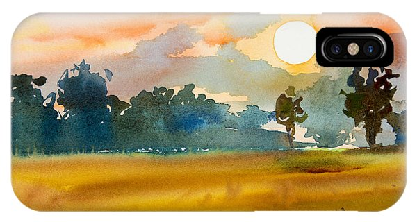 Shadow iPhone Case - Watercolor  Painting Original Landscape by Painterstock