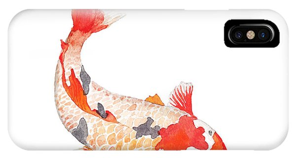 Peace iPhone Case - Watercolor Rainbow Carp. Hand Drawn by Eisfrei