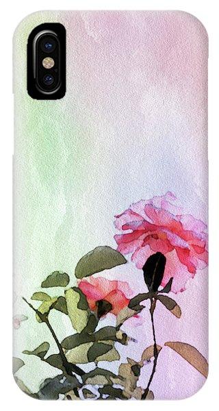 Simple iPhone Case - Watercolor Rose by Susan Maxwell Schmidt