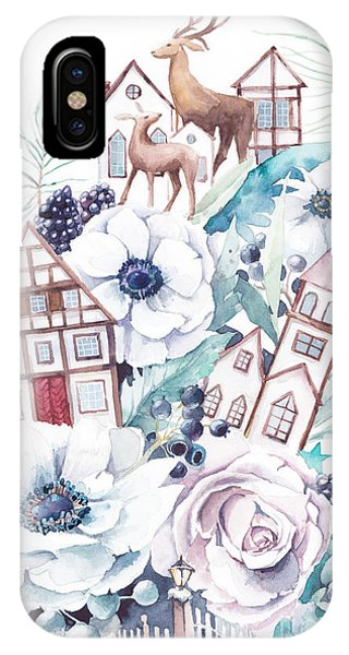 Fairytales iPhone Case - Watercolor Winter Fairytale by Eisfrei