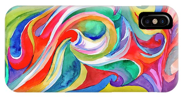 Watercolor's Swirl IPhone Case