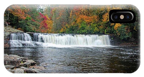 Waterfall In Autumn IPhone Case