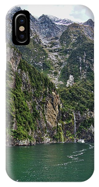 IPhone Case featuring the photograph Waterfall - Milford Sound - New Zealand by Steven Ralser