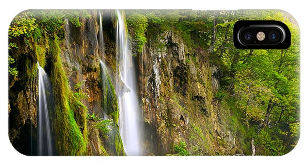 River Flow iPhone Case - Waterfall by Sj Travel Photo And Video