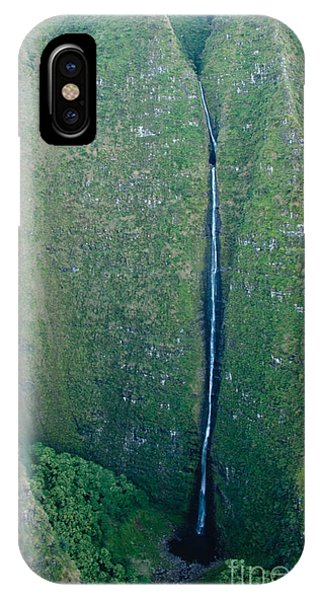 River Flow iPhone Case - Waterfall Streaming Down The Rock Face by Steve Heap