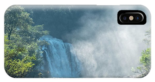 Waterfall, Sunlight And Mist IPhone Case