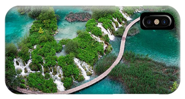 Travel Destination iPhone Case - Waterfalls In Plitvice National Park by Evgeniya Moroz