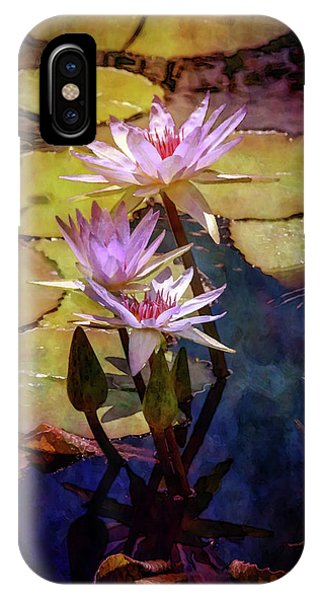 Waterlily Bouquet 2922 Idp_6 IPhone Case