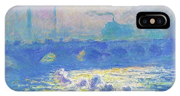 Smoke Fantasy iPhone Case - Waterloo Bridge - Digital Remastered Edition by Claude Monet