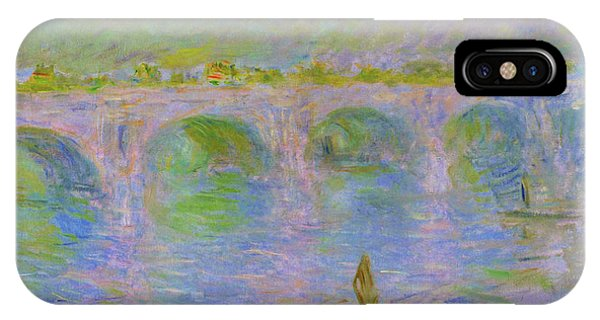 Smoke Fantasy iPhone Case - Waterloo Bridge In London - Digital Remastered Edition by Claude Monet
