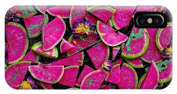Watermelon Radish Edges IPhone Case
