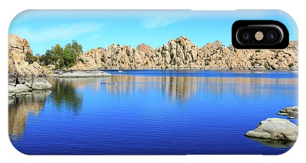 Watson Lake And Rock Formations IPhone Case