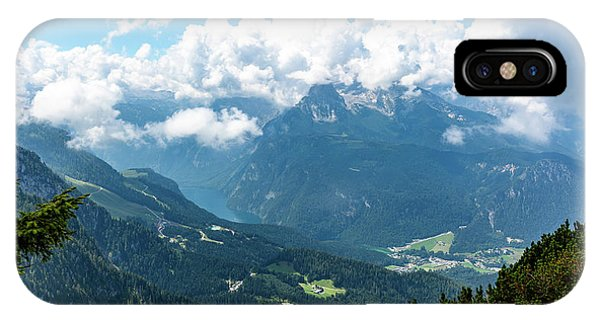 IPhone Case featuring the photograph Watzmann And Koenigssee, Bavaria by Andreas Levi