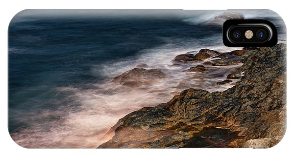 IPhone Case featuring the photograph Waves And Rocks At Sozopol Town by Milan Ljubisavljevic