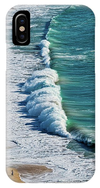 Waves At Nazare Beach - Portugal IPhone Case