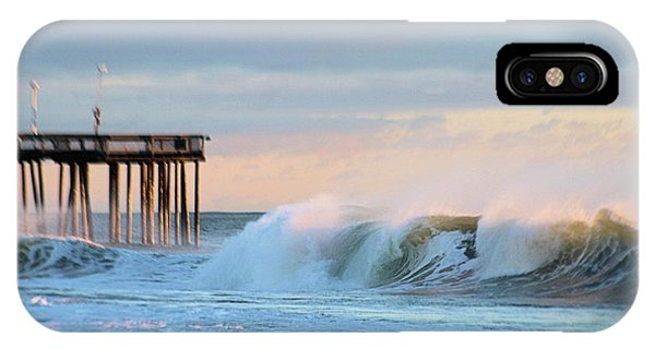IPhone Case featuring the photograph Waves At The Inlet Beach by Robert Banach