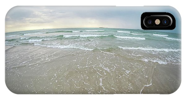 IPhone Case featuring the photograph Waves Crashing On Wrightsville Beach Before The Storm by Alex Grichenko