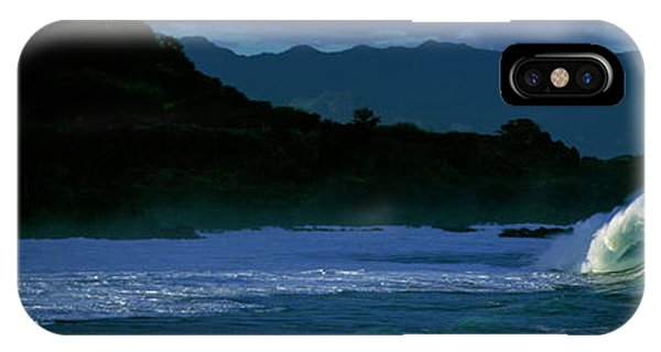 iPhone Case - Waves In The Pacific Ocean, Waimea Bay by Panoramic Images