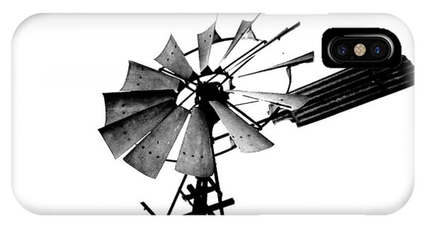 Weathered Windmill - B-w IPhone Case