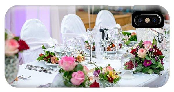 Wedding Table IPhone Case