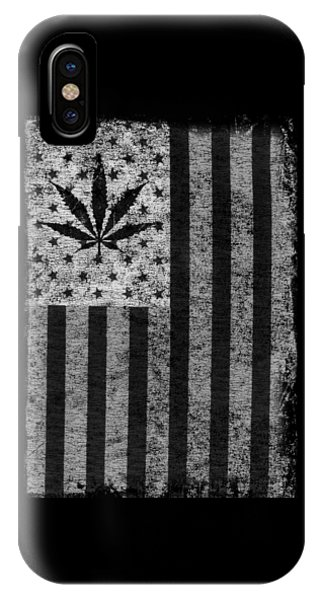 Weed Leaf American Flag Us IPhone Case