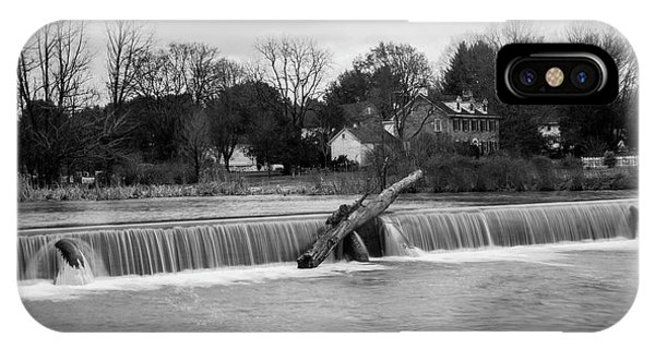 Wehr's Dam - Black And White IPhone Case