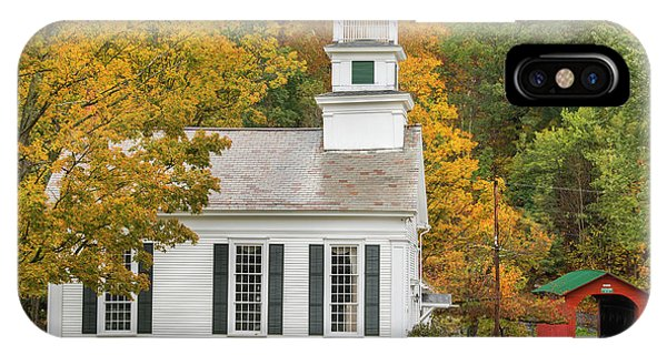 IPhone Case featuring the photograph West Arlington Vermont Village Green by Expressive Landscapes Fine Art Photography by Thom