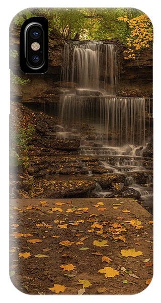 IPhone Case featuring the photograph West Milton Falls In Autumn by Dan Sproul