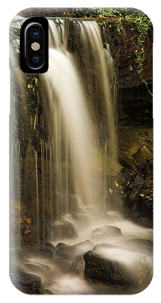 IPhone Case featuring the photograph West Milton Falls Vertical by Dan Sproul