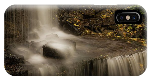 IPhone Case featuring the photograph West Milton Waterfall Details by Dan Sproul