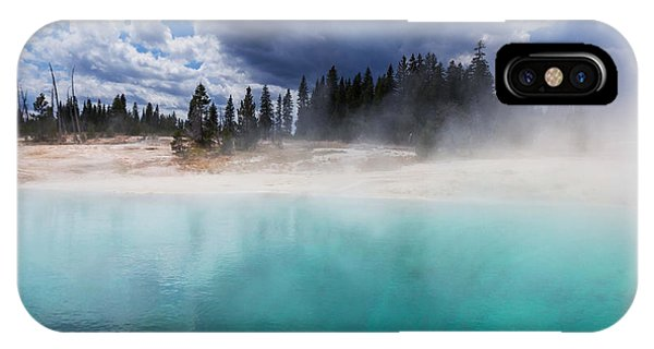 Travel Destination iPhone Case - West Thumb Geyser Basin In Yellowstone by Galyna Andrushko