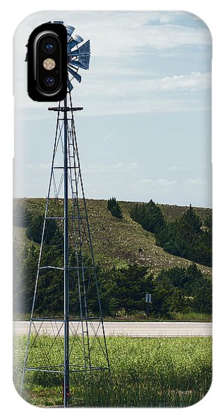 IPhone Case featuring the photograph Western Nebraska Windmill by Edward Peterson