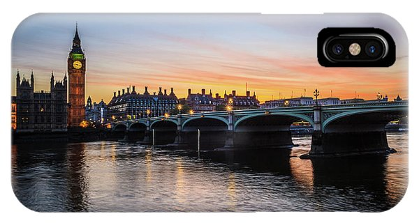 Westminster Sunset IPhone Case