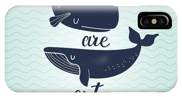 Baby Blue iPhone Case - Whales Are Cute. Awesome Whales On by Smilewithjul