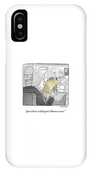 What Obama Wrote IPhone Case