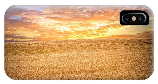 IPhone Case featuring the photograph Wheatfield Sunset by Mike Braun