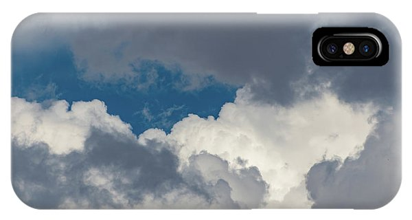 White And Gray Clouds IPhone Case
