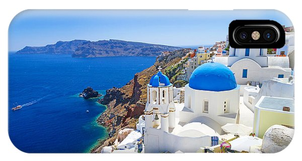 Christianity iPhone Case - White Architecture Of Oia Village On by Patryk Kosmider