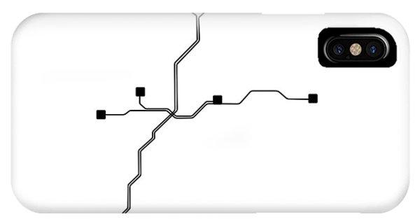 Georgia iPhone Case - White Atlanta Subway Map by Naxart Studio