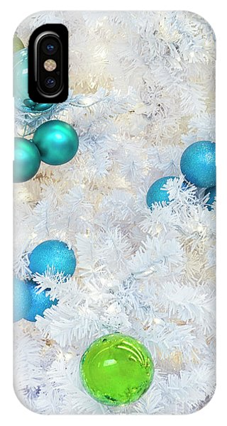 Christmas Tree iPhone Case - White Christmas by Evelina Kremsdorf