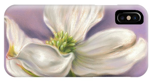 IPhone Case featuring the pastel White Dogwood On Purple by MM Anderson